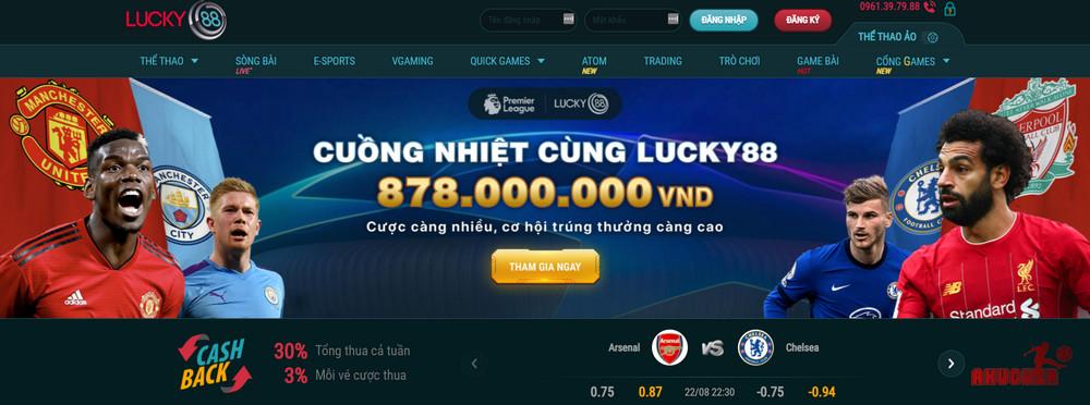 Lucky88 web cá độ bóng đá đẳng cấp từ VIệt Nam