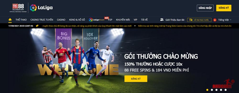 M88 web cá cược bóng đá uy tín