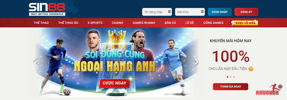 Sin88 web cá cược bóng đá uy tín mới nổi