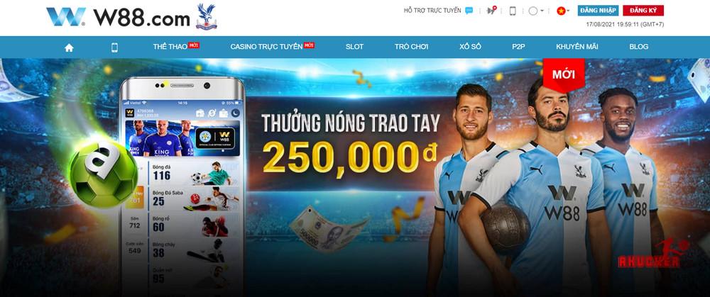 Trang cá độ bóng đá uy tín nhất Việt Nam W88